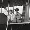 Katharine and Orville Wright aboard Wright Model HS