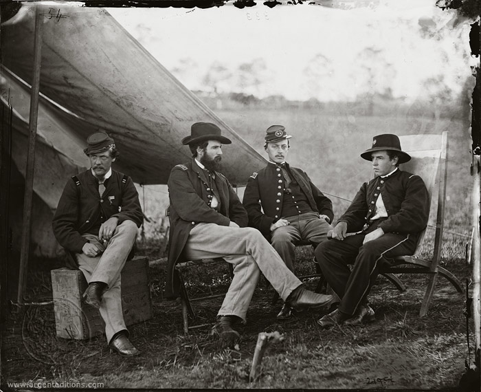 Home > photographs > civil war > group of officers, headquarters, army