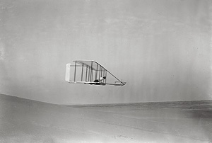 Wilbur Wright Gliding in Level Flight