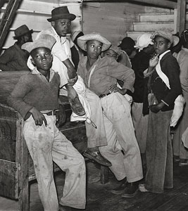 Day Laborers Waiting to be Paid for Cotton Picking