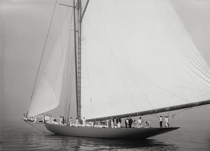 Crew Rigging Yacht Shamrock I, America's Cup, 1899