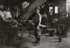 Carrying-in Boy in Alexandria Glass Factory