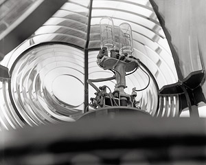 Fresnel Lens and Lighthouse Lamp